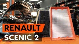 Montage RENAULT SCÉNIC II (JM0/1_) Luftfiltereinsatz: kostenloses Video