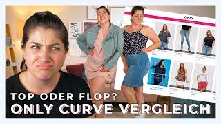 ONLINE SHOP GRÖßE 40/42 VERGLEICH | Only Carmakoma Curve Kollektion live Bewertung | #kleinundkurvig