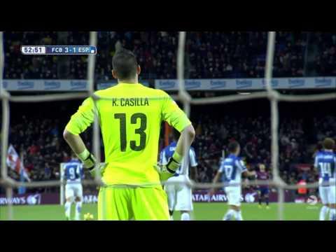 Gerard Pique Goal vs Espanyol 2014/2015