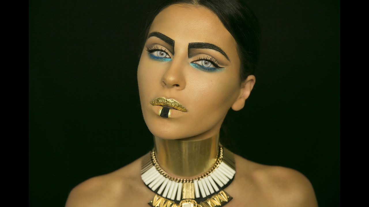 pharaoh: halloween makeup tutorial - youtube