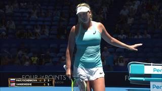 Anastasia Pavlyuchenkova v CoCo Vandeweghe highlights (RR) | Mastercard Hopman Cup 2018