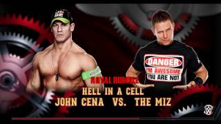 John Cena vs. The Miz WrestleMania 33 hell in a cell match full