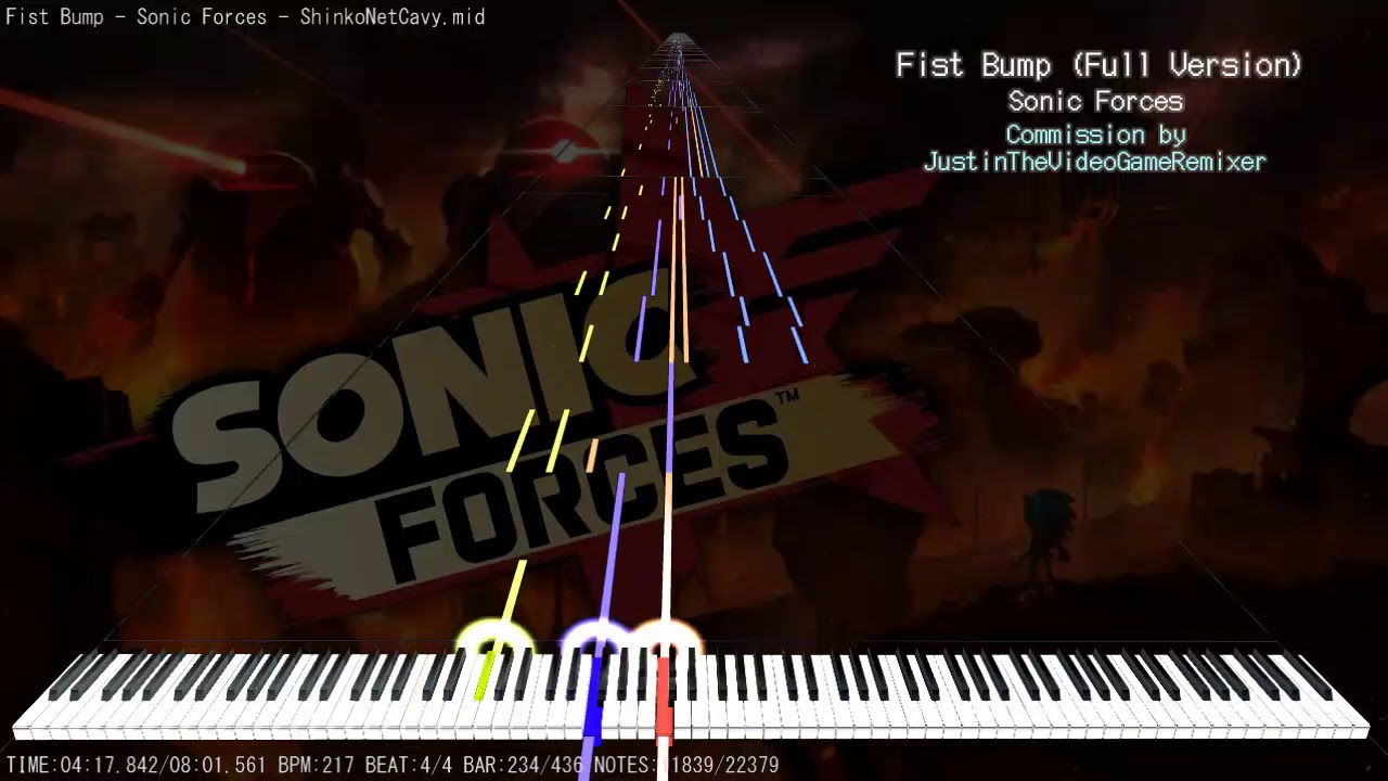 【MIDI】Sonic Forces「Fist Bump」| Full MIDI Cover | FULL SIZE