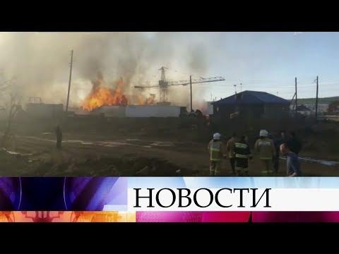 В Красноярском крае потушен крупный пожар на лесоперерабатывающем комбинате.