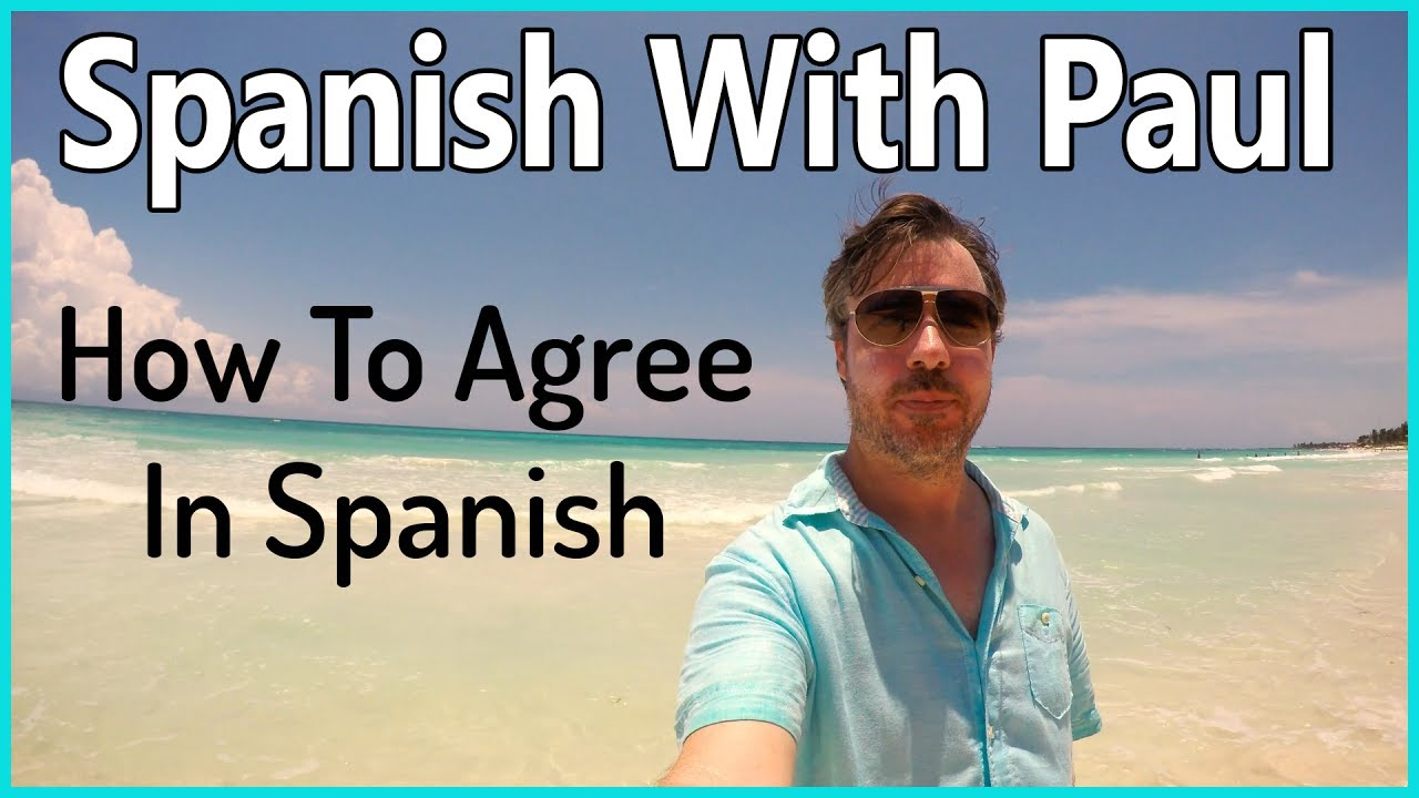 how to say i agree in spanish