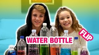 Water Bottle Flip Challenge! (MattyBRaps vs Sierra Haschak)