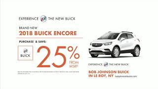 Lease a 2018 Buick Encore for $139/mo. or Purchase & Save 25% from MSRP at Bob Johnson Buick