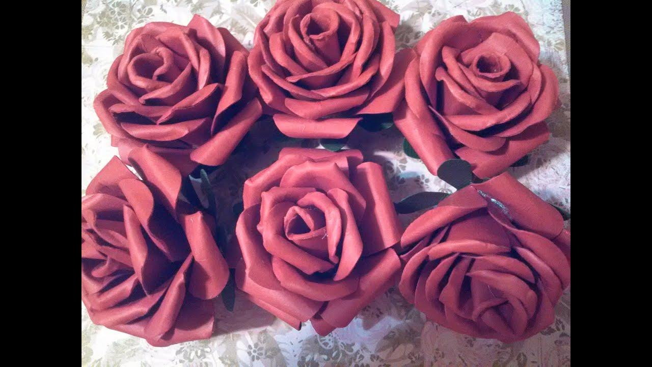 Handmade Paper Roses NON Tutorial