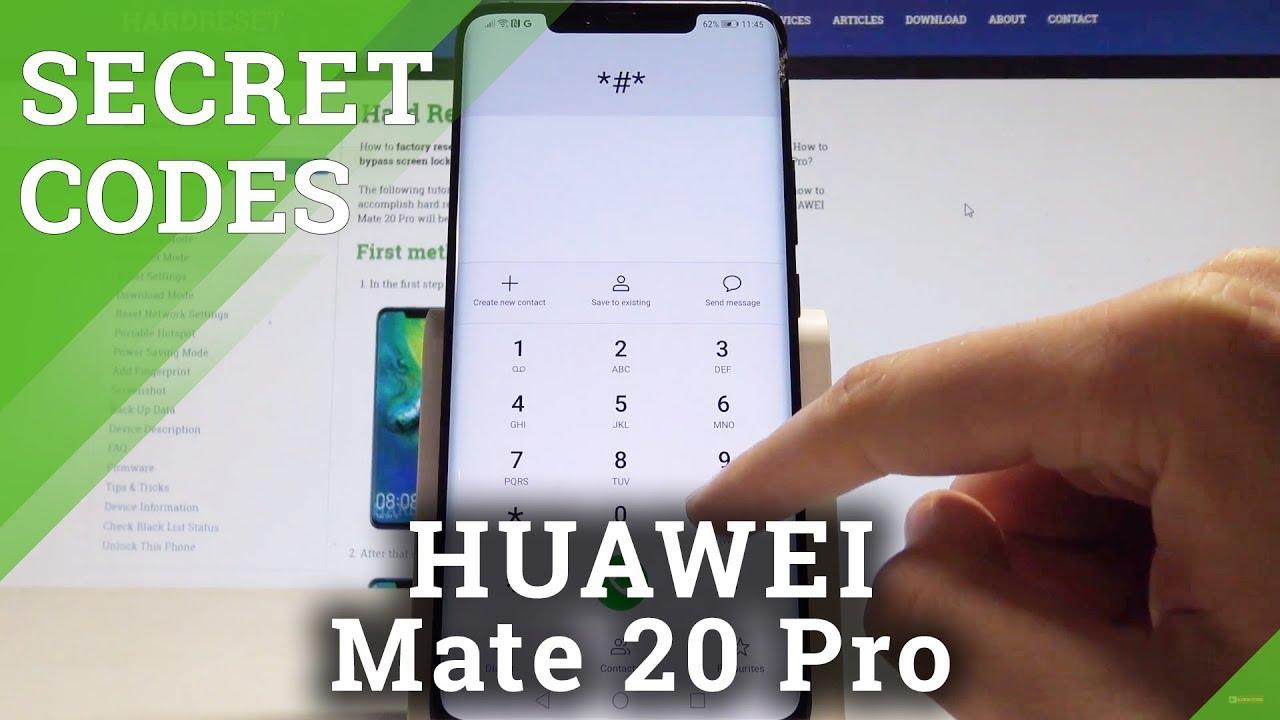 CODES HUAWEI Mate 20 Pro - Secret Menu / Hidden Mode / Advanced Feature