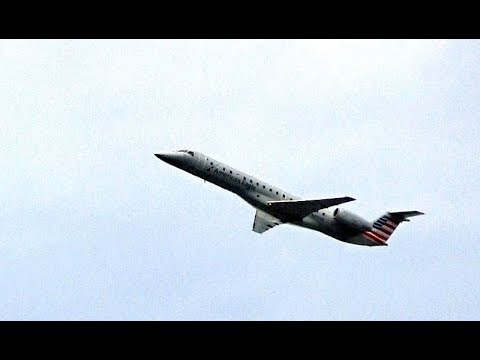 AMERICAN EAGLE Embraer jet takes off to Columbus OH as flight 3820 from JFK