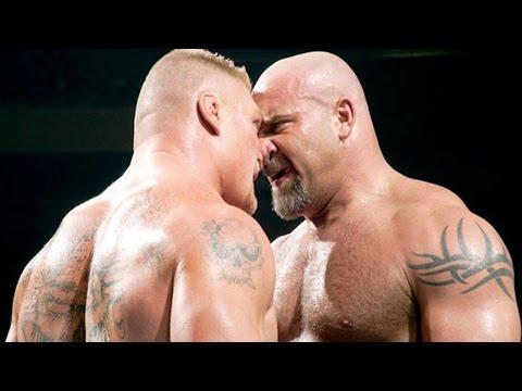 WWE Raw 2017  Brock lesnar Vs Goldberg...