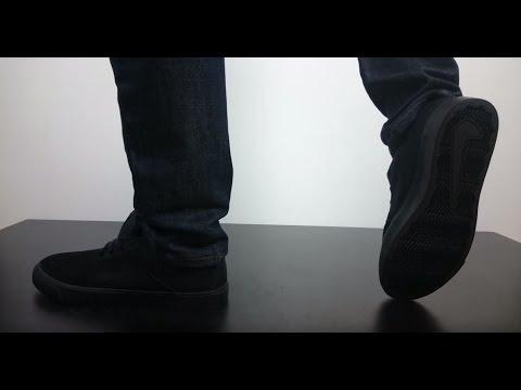 Nike Sb Portmore Blackout Black Suede Youtube