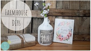 FARMHOUSE DECOR | DIY | RUSTIC | EASY CRAFTS | HOME DECORATING | DOLLAR TREE | SHABBY CHIC