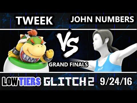 Glitch 2 Low Tiers - John Numbers (Wii Fit Trainer) Vs. Tweek (Bowser Jr.) SSB4 Grand Finals