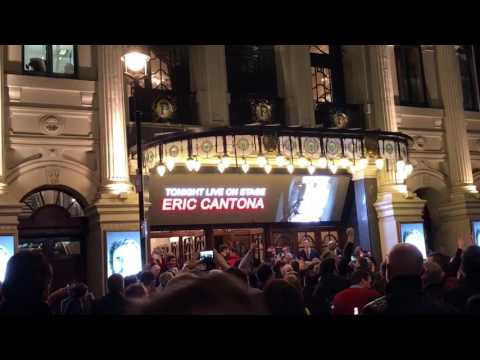 Manchester United fans 'Got United on my mind' London Palladium Eric Cantona