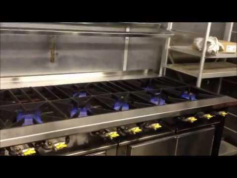 Commercial Cooker Range - 9 Burner Flame