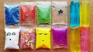 Making Crunchy Slime With Bags and Slippery Stress Toys - Satisfying Slime Videos