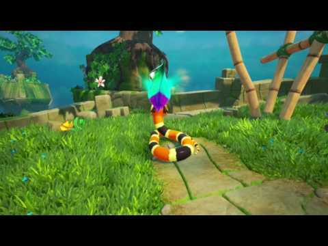 Snake Pass! Level 1 - Paradise Pass Walkthrough All Collectibles/Coins (Nintendo Switch)