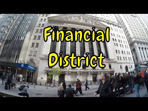 ⁴ᴷ Walking Tour of Manhattan, NYC - Financial District via Broad/Nassau Streets, Federal Hall tour