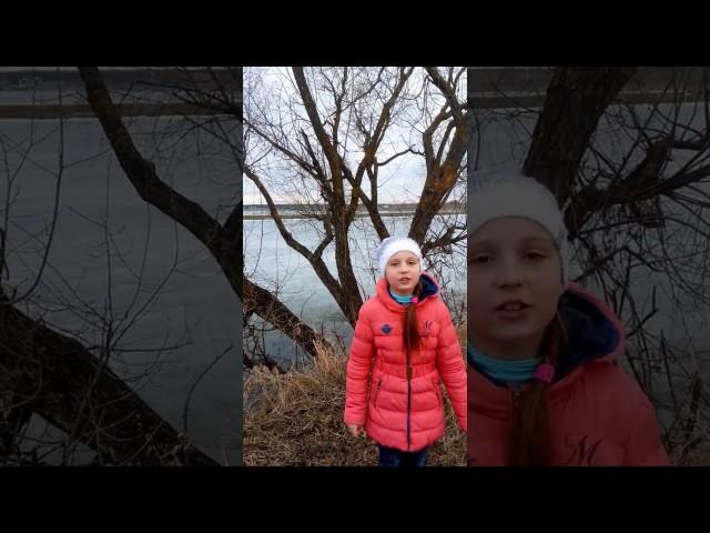 Изображение предпросмотра прочтения – МашаМасюкова читает произведение «Весенние воды (Еще вполях белеет снег…)» Ф.И.Тютчева