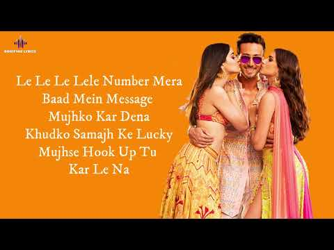 Hook Up Song (LYRICS) - Student Of The Year 2 I Tiger, Tara, Ananya I Neha , Shekhar