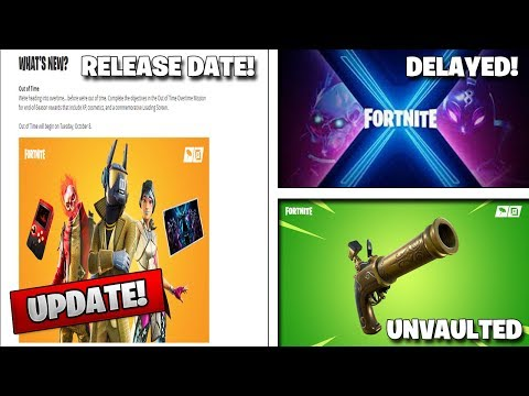 *NEW* Fortnite 10.40.1 Patch Notes! SEASON 11 DELAYED! Overtime Challenges Release Date!