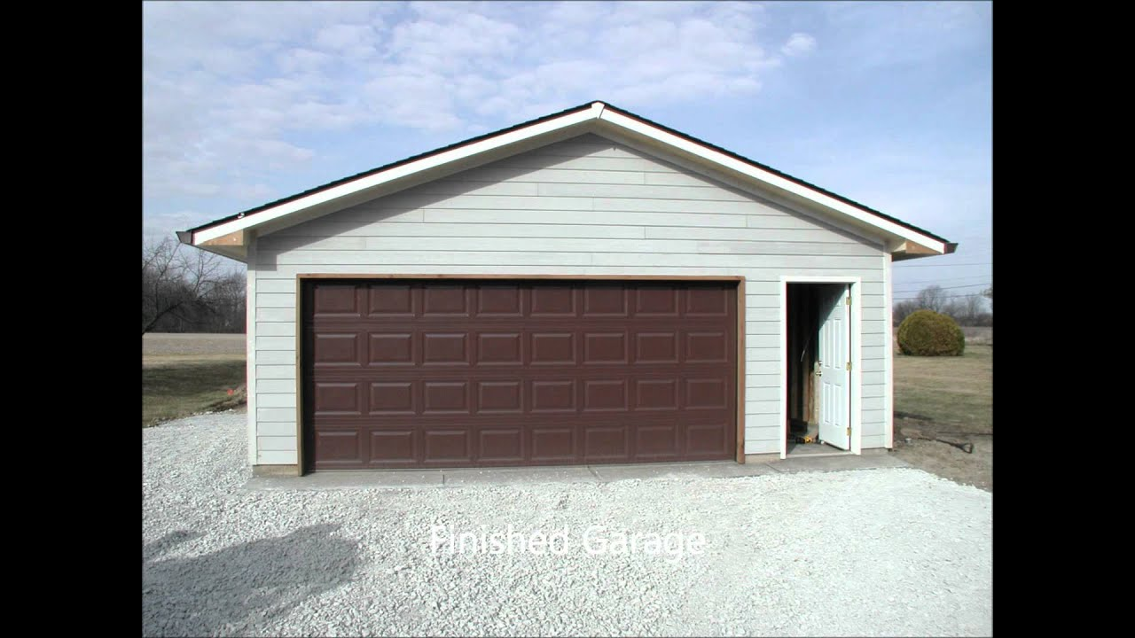 New garage 24 x 30 youtube for 25x30 house plans