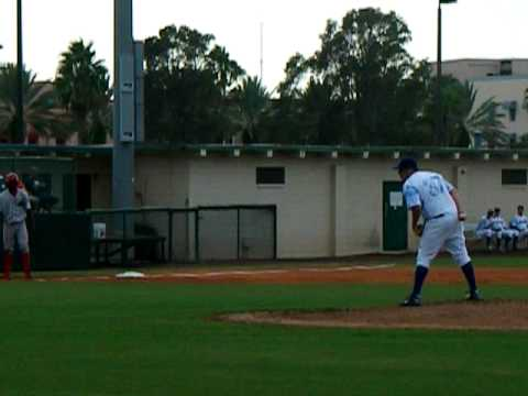 Ryan Searle Pitching from the Daytona Beach Cubs o...