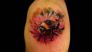 Значение тату шмель - примеры фото готовых татуировок