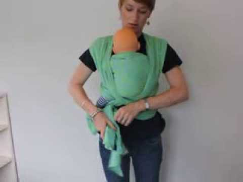 Easy instructions for Front Wrap Cross Carry | Newborn Woven Wrap Babywearing | The Sleep Store