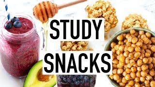 STUDY SNACKS! Healthy Snack Ideas! Easy and Quick! Cooking With Liv Ep.6