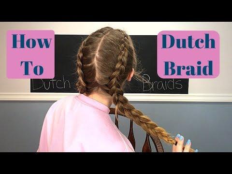 EASY dutch braid tutorial.