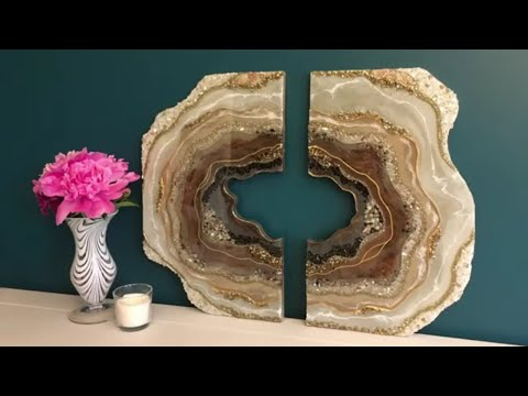 #36 DIY Large Two Piece Resin Geode