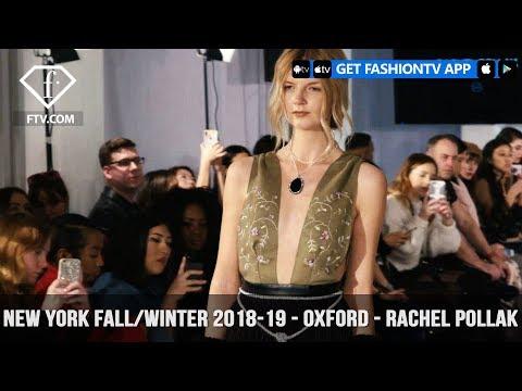 New York Fashion Week Fall/Winter 18 19 - Oxford Fashion Studio - Rachel Pollak | FashionTV | FTV