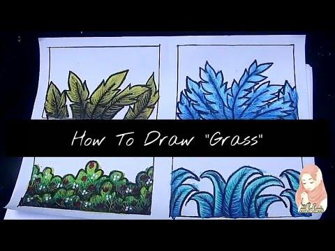 Cara Menggambar Dan Mewarnai Rumput Katalogridha Youtube