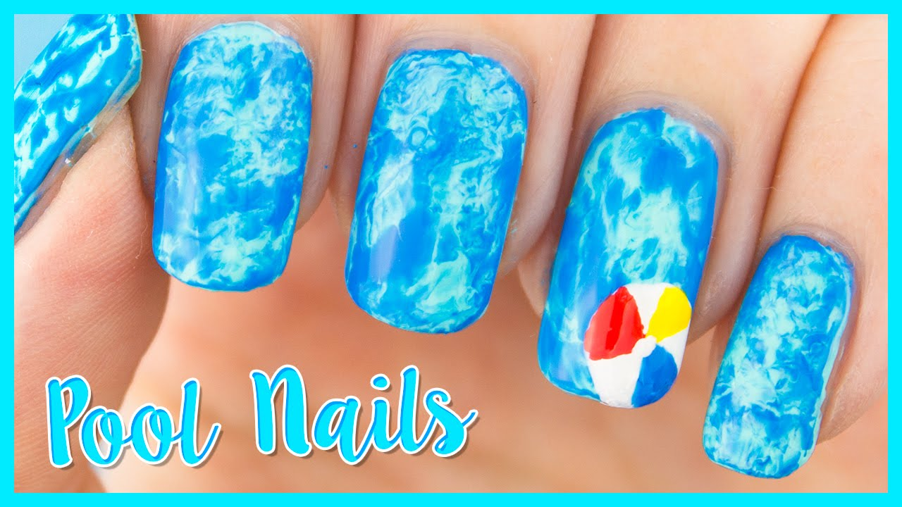 Swimming pool water nails perfect nail art for summer youtube swimming pool water nails perfect nail art for summer prinsesfo Choice Image