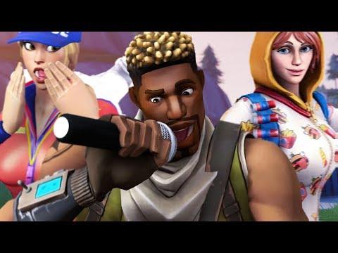 Dude Drops INSANE Freestyle Rap In A Fortnite Game