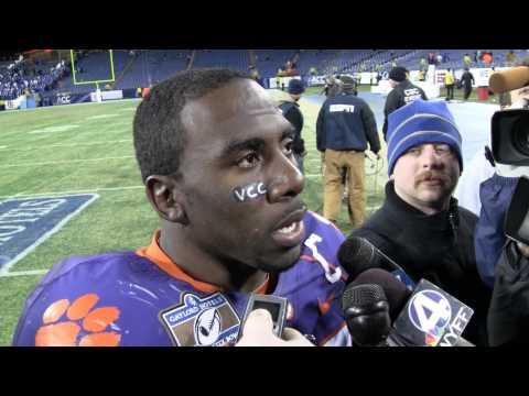 Spiller talks with media afer Music City Bowl