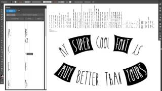 Create a font in Illustrator in 2 clicks 👍