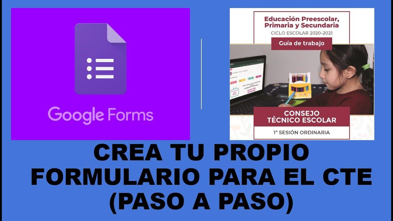 Soy Docente: CREA TU PROPIO FORMULARIO PARA EL CTE (PASO A PASO)