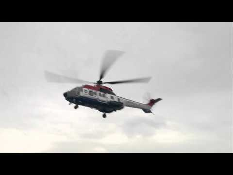 Offshore helicopter landing on vessel in China