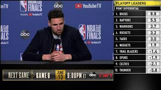 Klay Thompson Press Conference   NBA Finals Game 5