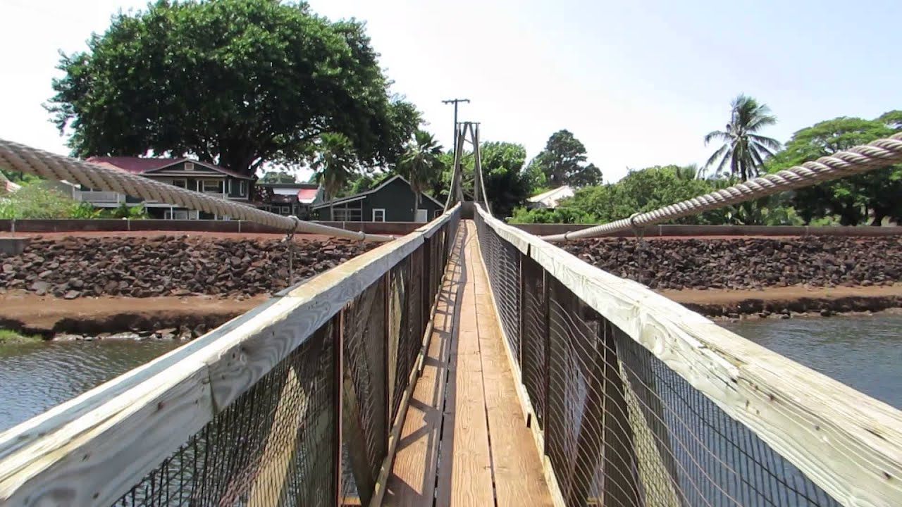 Hanapepe Swinging Bridge Kauai Hi