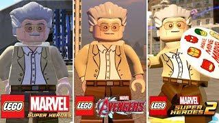 STAN LEE Evolution in LEGO Marvel Videogames (2013 - 2017) - RIP Stan Lee.