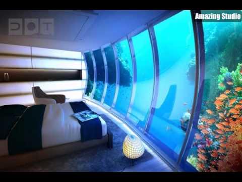 aquarium schlafzimmer aquarium eirichten design atmosphäre, Schalfzimmer deko