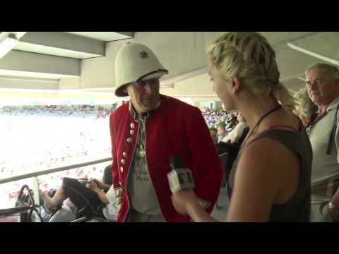 CGW - Hayley visits the Barmy Army at Eden Park