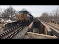 CSX HD 60 FPS: Ringling Bros. and Barnum & Bailey Circus Train Blue Unit @ Roselle Park (2/21/17)