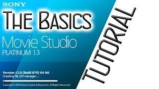 Sony Vegas Movie Studio Platinum 13 Basic Tutorial - Tools, Commands, Tips