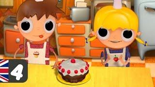 Schokolade-Kuchen-Rezept für Kinder, Telmo und Tula cartoons
