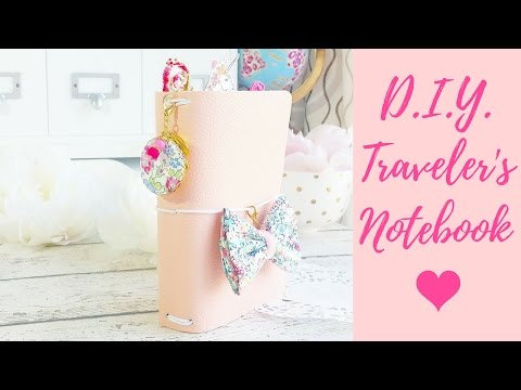 DIY Traveler's Notebook Tutorial | How To Make a No Sew Faux Leather TN | A6 Hobonichi Cover